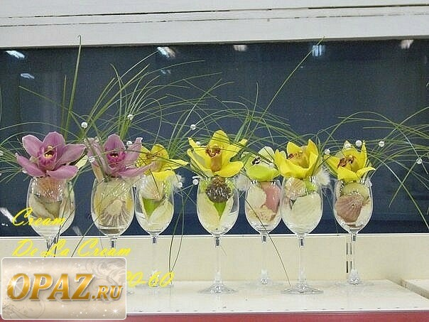 Композиции из живых цветов с фото